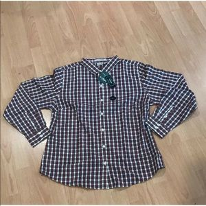 LL Bean Wrinkle Resistant Traditional Fit Plaid